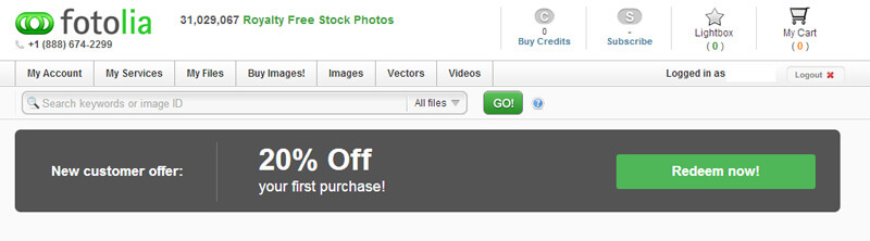 fotolia 20 percent off