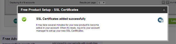 set up ssl certificate - activated